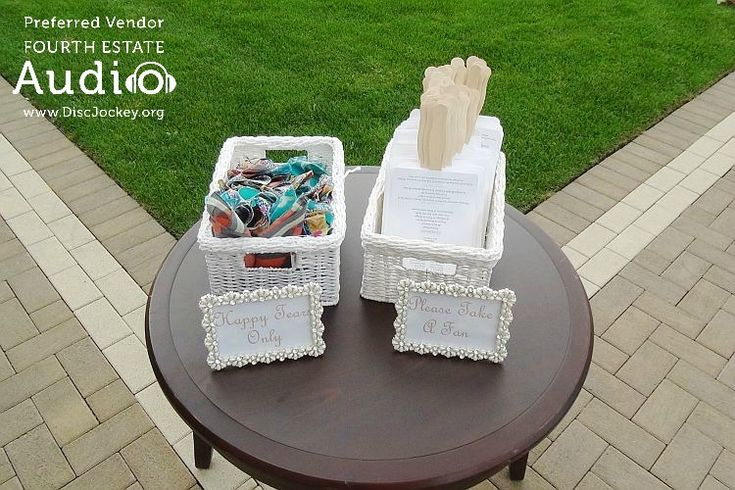 The bride and groom provided hankies and fan-shaped wedding programs for their guests. http://www.discjockey.org/real-chicago-wedding-august-20-2016/