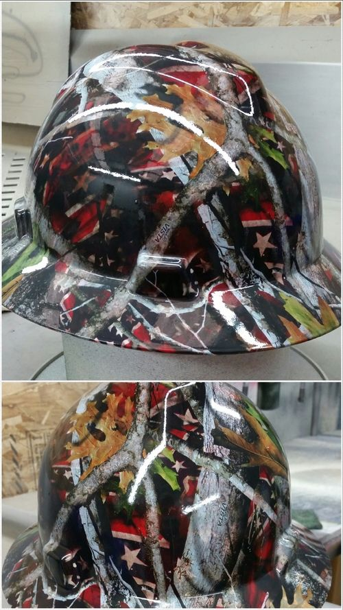 Gallery — H and H Hydrographics this hard hat was double dipped so it has two prints on it