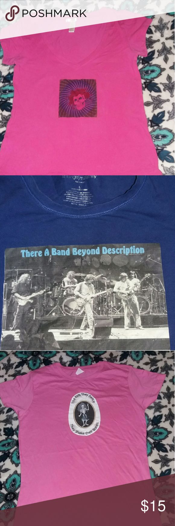 Lot of 4 jam band t-shirts 3 grateful dead shirts  1 is long sleeve & 1 Bob Marley Tshirt Sizes range from a fitted small to a large loose. Super grate deal for all of these!!  Feel free to ask questions Tops