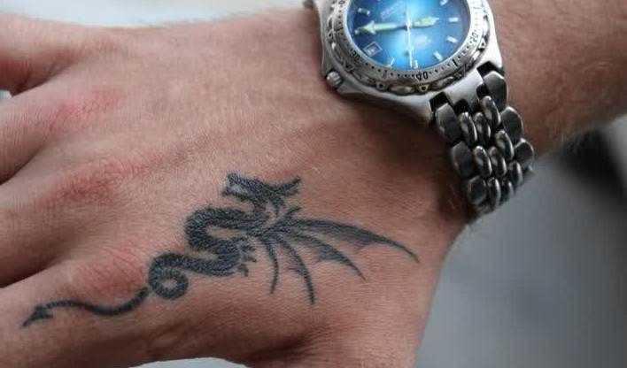 small dragon tattoo for girls - Google Search