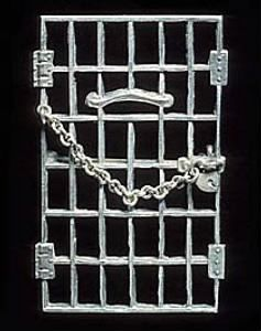 """The National Woman's Party gave silver pins, representing a cell door with a heart-shaped padlock, to members who had been """"jailed for freedom."""""""