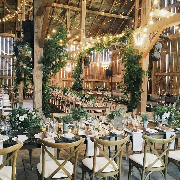 "bloom_and_co (instagram) - niagara-on-the-lake, ontario -- ""What. A. Day. Brought the outside in and created a little forest inside @cambiumfarms for Melissa + Andres. It was an incredible pleasure working with…"""