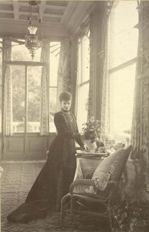 Dowager Empress Marie Feodorovna of Russia, at Hvidore House (the house she shared in Denmark with her sister, Alexandra). circa 1911.