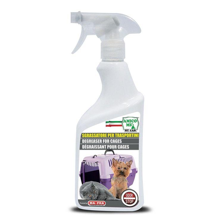 MA-FRA Sgrassatore per trasportini pulizia gabbie spray 500ml cani gatti LAM007