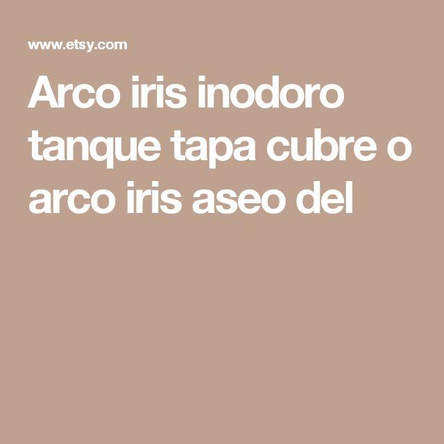 Arco iris inodoro tanque tapa cubre o arco iris aseo del