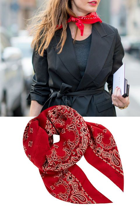 From cool coats to chic bags, shop the 24 best street style outfits from fashion month.  Saint Laurent Paisley Bandana Scarf, $569; selfridges.com