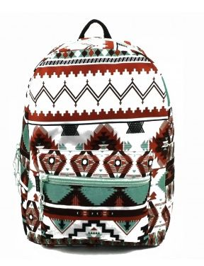 A perfectly awesome girls backpack for back to school, this Aztec backpack offers great quality features too at an incredible value price. This backpack measures 17 x 12 x 6 and has a large main compa
