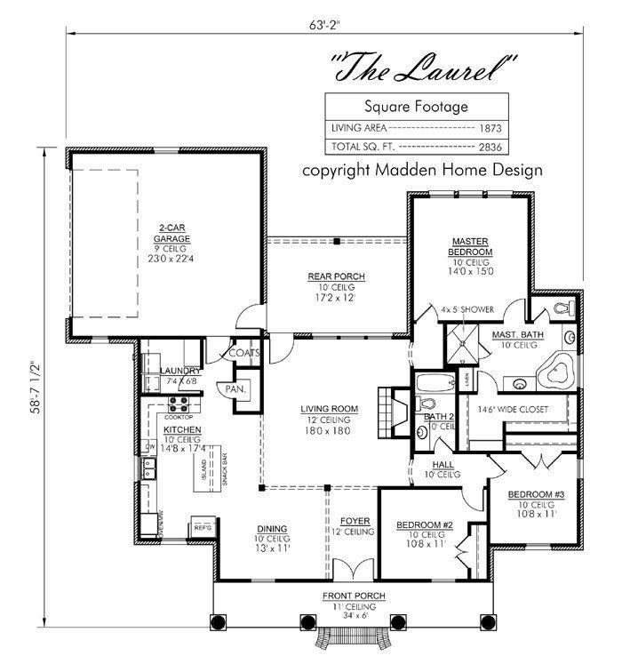 62 best house plans images on pinterest floor plans for Laurel river house plan