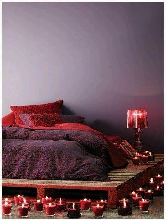 Romantic Red Bedroom Ideas: Romantic Bedroom Candles