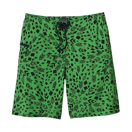Patagonia Green Patterned Board Shorts