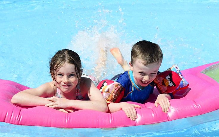 Swimming pool at Mousses Crèche & Children's Club, Lefkada, Greece #Lefkada #Greece #travel