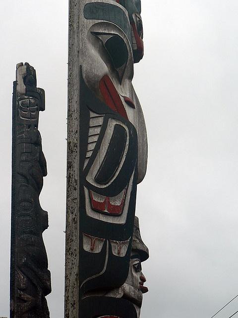 Totem Poles - Old Masset- Haida Gwaii by lens gazer, via Flickr