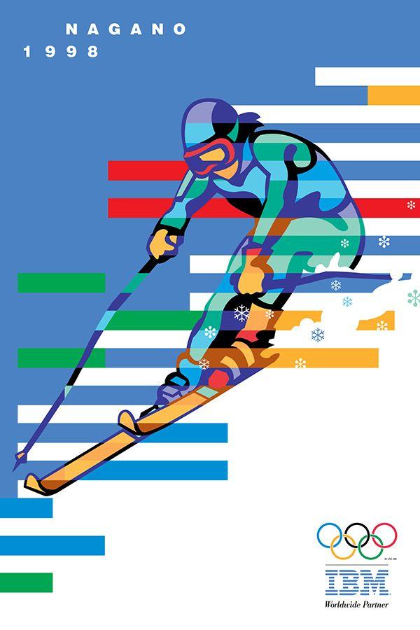 IBM Olympics posters on Behance