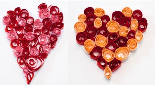 Valentýnská srdíčka - quilling DIY / Hearts for Valentine http://www.skolnisvet.cz/valentynska-srdicka-quilling/