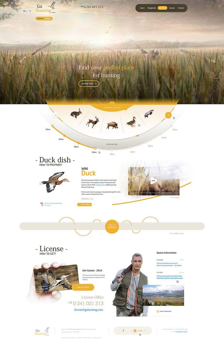 Unique Web Design on the Internet, Go Hunting #webdesign #websitedesign #website #design http://www.pinterest.com/aldenchong/