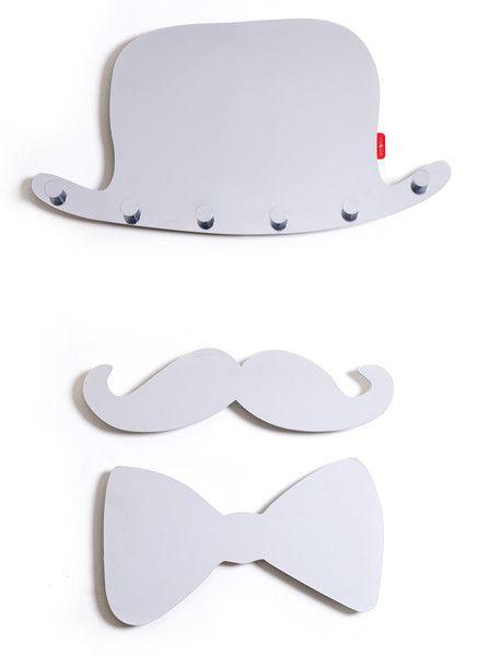 Wieszak ścienny ze stali z efektem 3D, MUSTA_ 48cm w Skinberg na DaWanda.com
