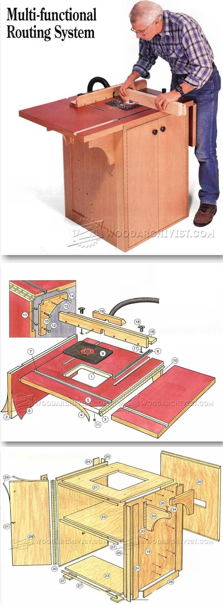 Extension Router Table Plans - Router Tips, Jigs and Fixtures | WoodArchivist.com
