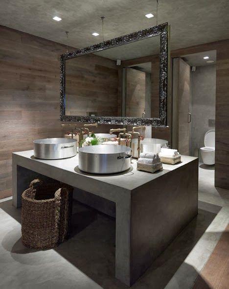 #reforma #baño para local comercial, con isla central de ...