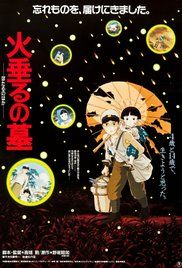 Grave of the Fireflies Poster - view of WWII from kids in Japan