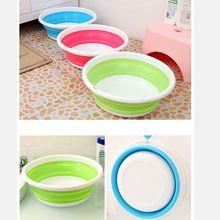 1 unid lavabo Lavabo portátil Al Aire Libre Plegable de Silicona contenedor de alimentos de Fácil Lavado de almacenamiento de baño cocina accesorios(China)