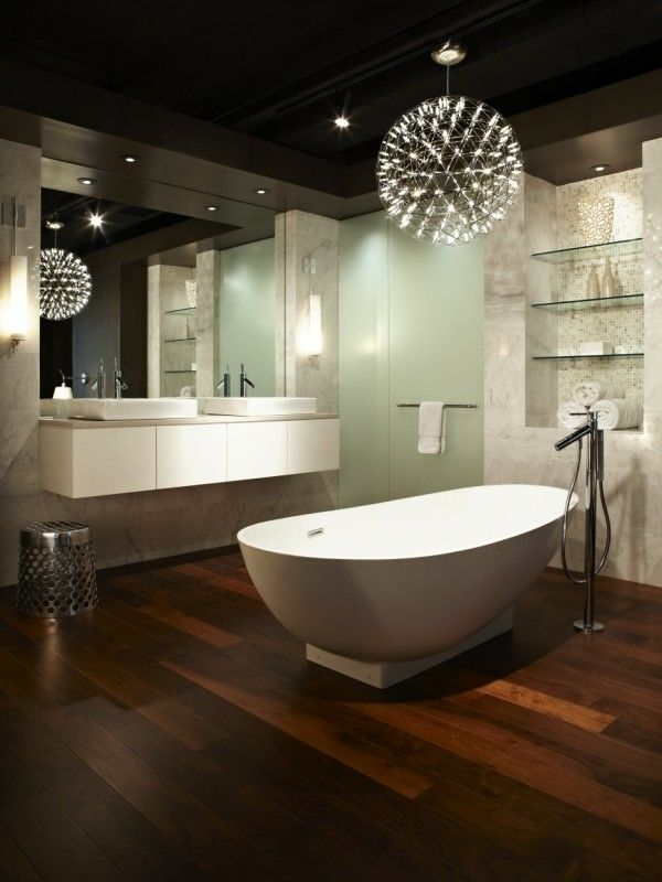 Lampe Dusche Led : Modern Bathroom Lighting Ideas