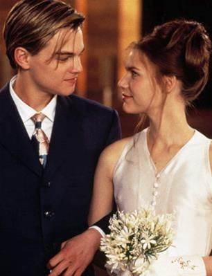 Leonardo DiCaprio and Clare Danes in 'Romeo + Juliet' (1996)
