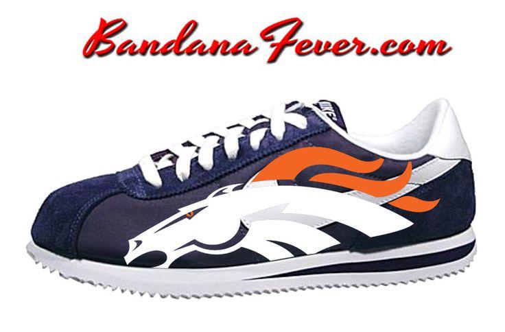 """Bandana Fever - Nike """"Broncos"""" Cortez Nylon Midnight Navy/White by Bandana Fever, (http://www.bandanafever.com/nike-broncos-cortez-nylon-midnight-navy-white-by-bandana-fever/)"""