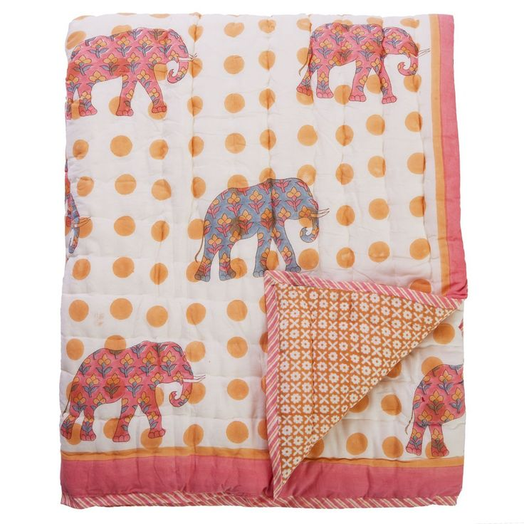 Check out our super cool bohemian Kajan Maharani 100% cotton quilt online today! View full range of childrens furniture and homewares online at www.ecochic.com.au!