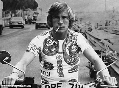 James Hunt - always cool.  F-1 original Bad Boy.