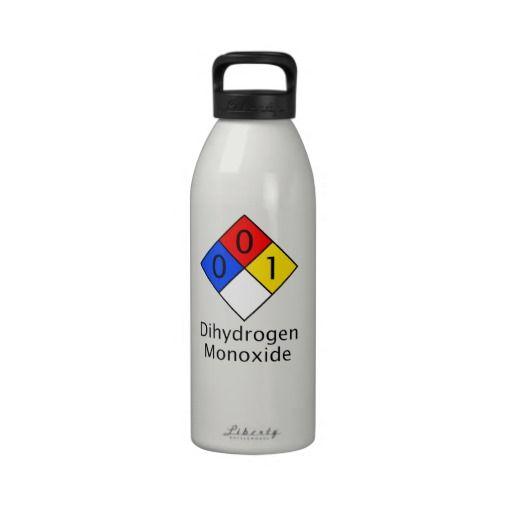 Dihydrogen Monoxide Water Bottle