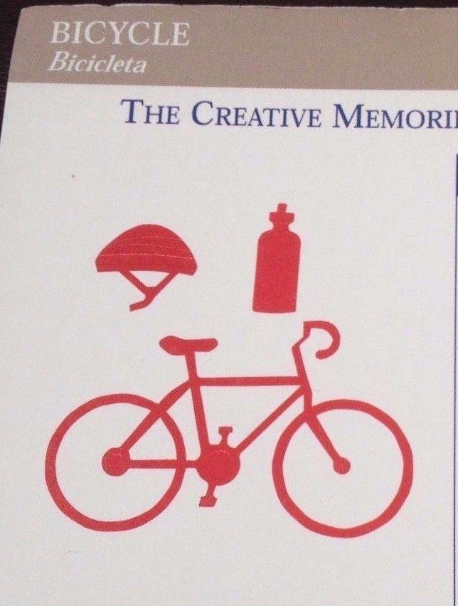 Creative Memories Die Cuts BICYCLE BIKE WATER BOTTLE HELMET RETIRED NLA ~RED~