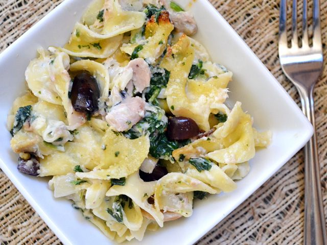 Frozen spinach with pasta recipe