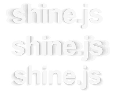 Shine.js – Library for Pretty Shadows  #shadow #effect #library