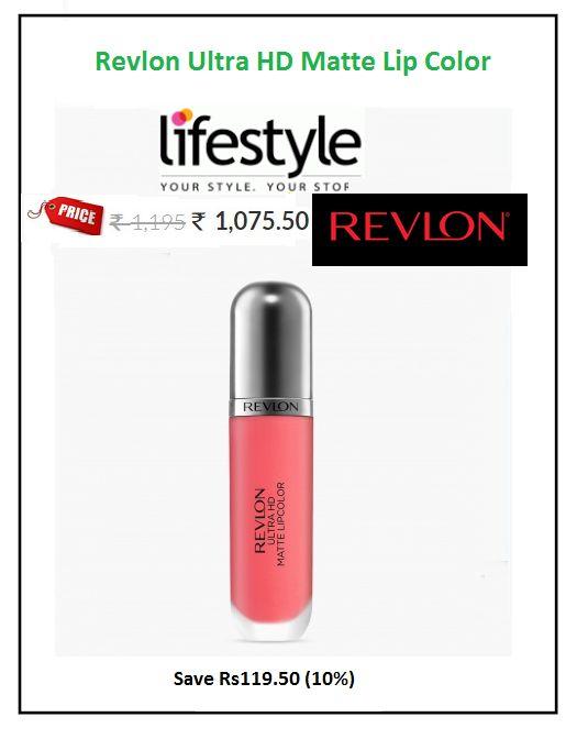 #Revlon #Ultra #HD #Matte #Lip #Color  #Colour: Flirtation-Coral #Price: ₹1,075.50 #unique light-weight formula for that well-moisturized matte finish pout