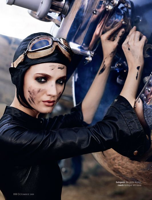 Amelia Earhart for Marie Claire by Giuliano Bekor, via Behance