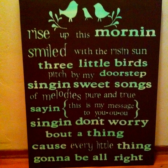 My first canvas painting, thanks to pinterest!: Little Things, Canvas Paintings, Canvas Quotes, Canvas Art, Painting Ideas, Bob Marley