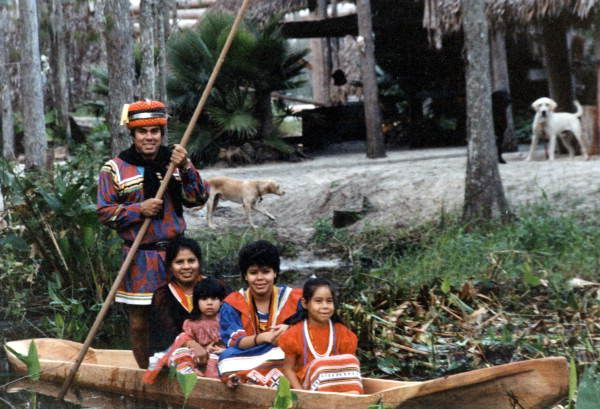 Seminole Chairman James E. Billie and Family: Florida, December 1985