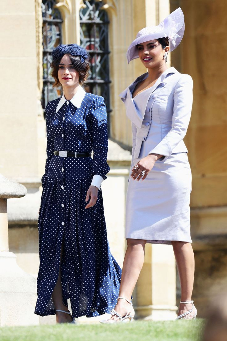 Oprah Winfrey The Beckhams And The Clooneys Were Among The First Guests At The Royal Wedding Coole Kleider Prinz Harry Hochzeit Priyanka Chopra