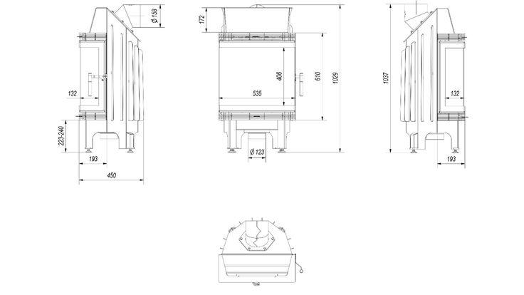 FINN – Peisovn 3 sider glass