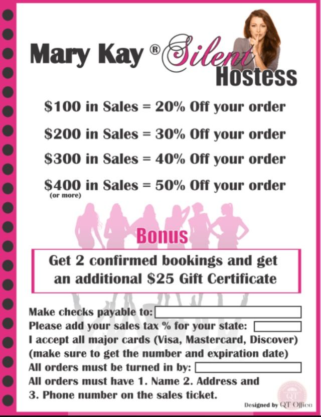 offer them a chance to earn silent hostess rewards qt office has created a new and trendy mary kay silent hostess flyer for you to explain the benefits
