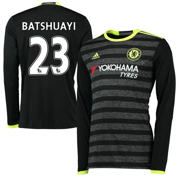 Michy Batshuayi Chelsea adidas Youth 2016/17 Away Long Sleeve Jersey - Black - $107.99