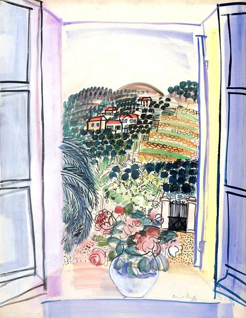 Open Window at Saint-Jeannet circa 1926-7 Raoul Dufy