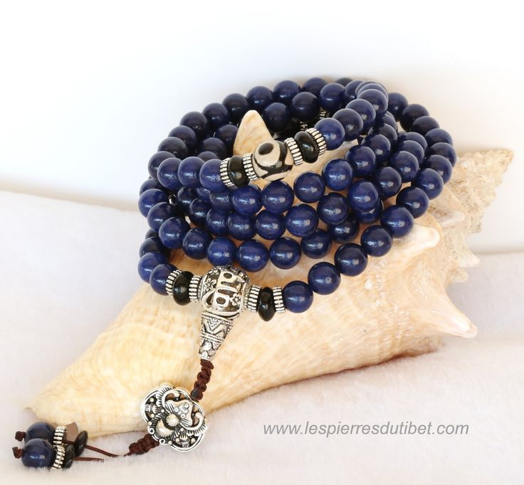 Mala Tibétain pierre lapis lazuli