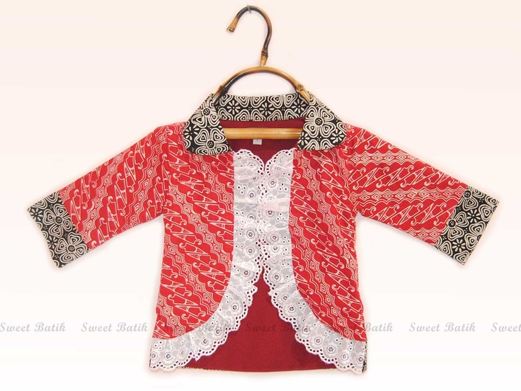 Red Girl Batik Bolero by Sweet Batik Indonesia.