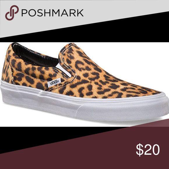 women's stylish leopard vans never worn, limited edition leopard vans slide ons Vans Shoes Sneakers