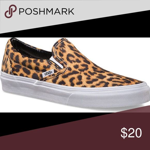 women's stylish leopard vans never worn, limited edition leopard vans slide ons Vans Shoes Sneakers