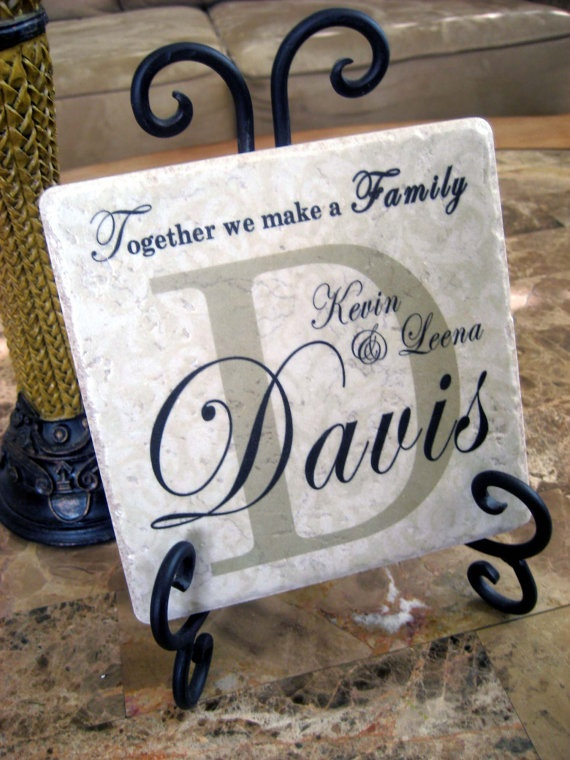 Personalized Family Name Tile Art on Wrought by KreationsbyMarilyn, $18.00