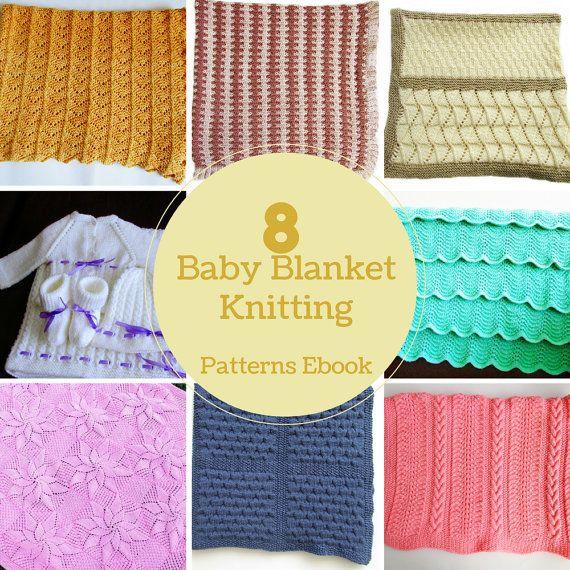 8 Baby Blankets Knitting Patterns Ebook  by BiggerthanlifeKnits