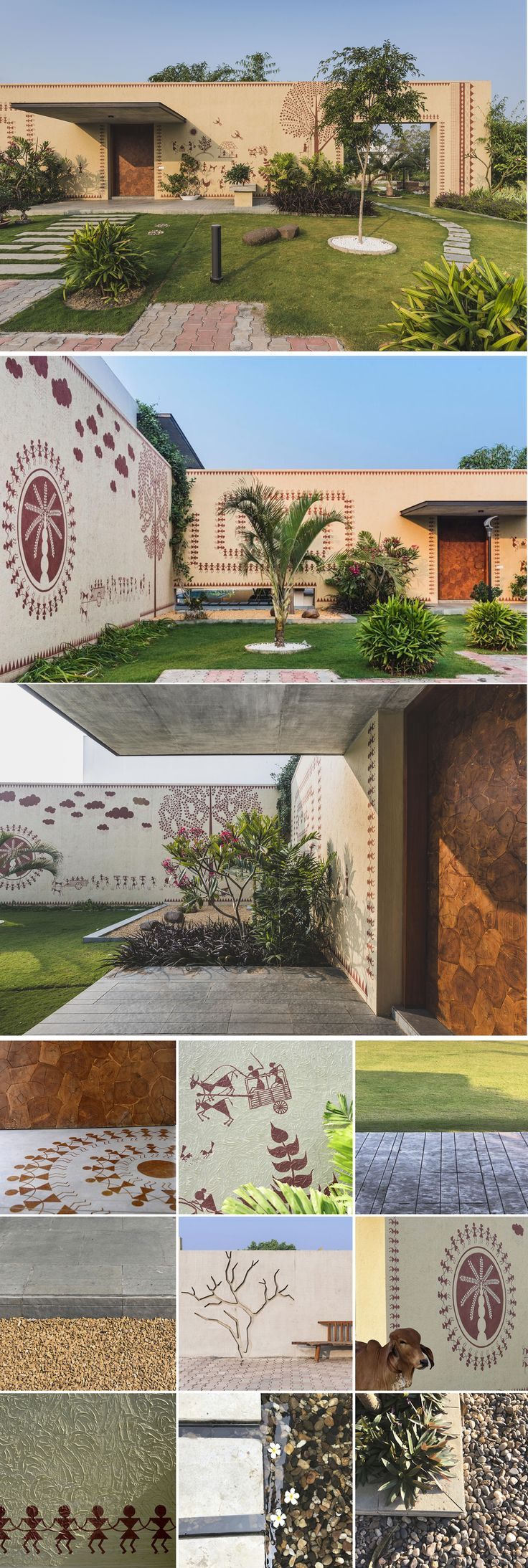 Padippura design images shape kerala home - Warli Art Painting Adds A Charm To This Rural House Design Work Group