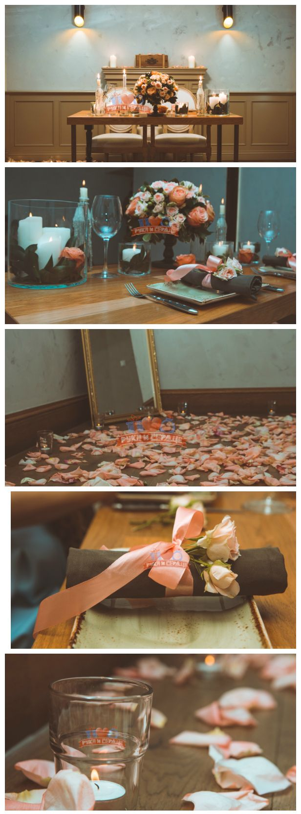 Свидание в ресторане. Ужин при свечах. Предложение руки и сердца/ Candlelight dinner. Romantic date. Romantic table decor. Proposal #rukaiserdce #рукаисердце #свидание #предложение #date #proposal #engagement #surprise #romantic